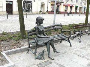 Halina Poświatowska - pamätník Czestochowa
